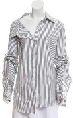 Monse Stripe Button-Up Top