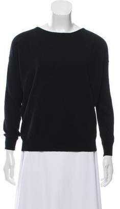 Zadig & Voltaire Leather-Trimmed Wool Sweater