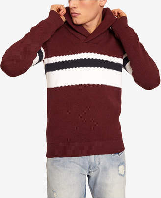 Armani Exchange Men's Shawl-Collar Colorblocked Sweater