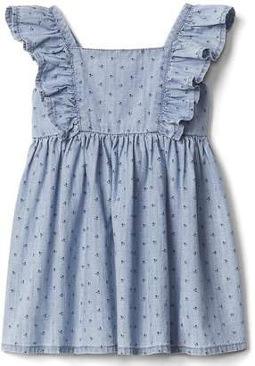 Floral chambray flutter dress $39.95 thestylecure.com