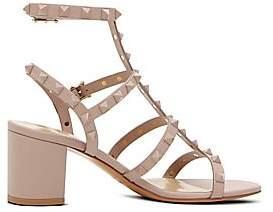 b45c455a69c19 Valentino Women s Rockstud Tonal Block Heel Sandals