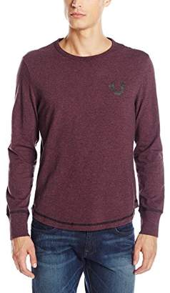 True Religion Men's Shoestring Henley Long Sleeve Shirt