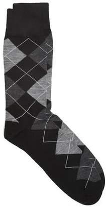 Corgi Argyle Socks in Black