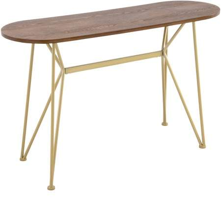 [Unavailable] Better Homes & Gardens Genevieve Console Table, Wood Top with Gold Base
