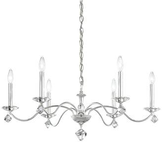 Schonbek Modique 6-Light Chandelier in Silver With Clear Heritage Crystal