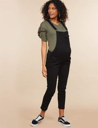 Motherhood Maternity Indigo Blue Side Panel Skinny Leg Maternity Overall