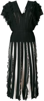 Valentino stripe panelled dress