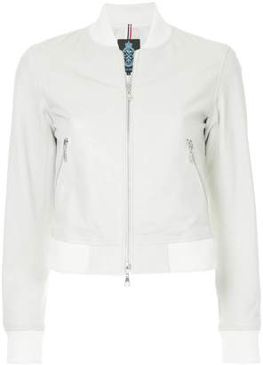 GUILD PRIME perforated leather bomber jacket