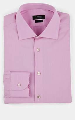 Barneys New York Men's Cotton Twill Dress Shirt - Pink