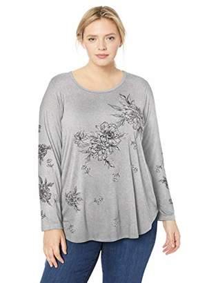 Karen Kane Women's Plus Size Print Long Sleeve TOP