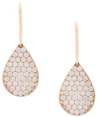 Irene Neuwirth 18kt rose gold and diamond teardrop earrings