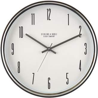 "Mainstays 15"" Chrome Wall Clock"
