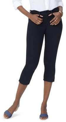 NYDJ Released-Hem Capri Jeans in Black