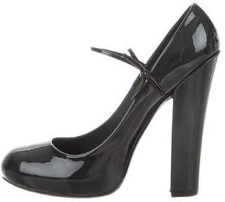 Louis Vuitton Patent Leather Mary Jane Pumps green Patent Leather Mary Jane Pumps