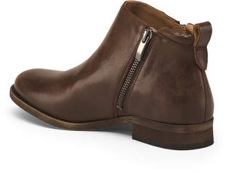 Franco Sarto Side Zip Leather Booties