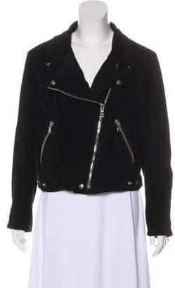 Reformation Suede Long Sleeve Jacket