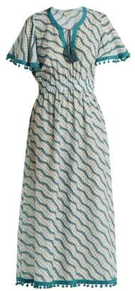 Talitha Collection Amyra Silk And Cotton Blend Dress - Womens - Green Print