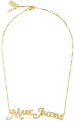 Marc Jacobs Gold New York Magazine Edition The Nameplate Pendant MJ Necklace