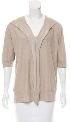 Stella McCartney Short Sleeve Cashmere Blend Top