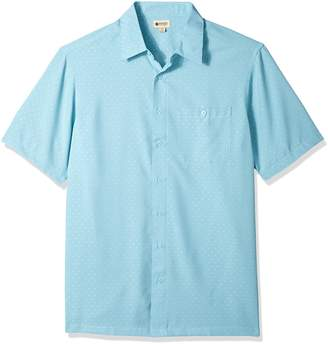 Haggar Men's Big Short Sleeve Microfiber Woven Shirt