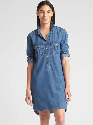 Gap Popover Denim Shirtdress