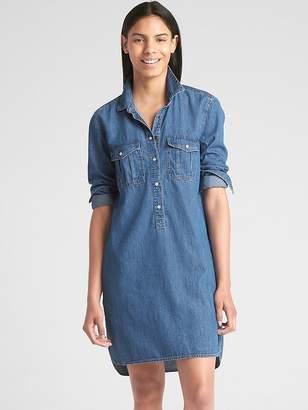 Gap Popover Denim Shirtdress