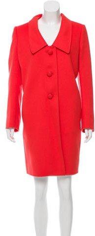 pradaPrada Wool & Angora-Blend Knee-Length Coat