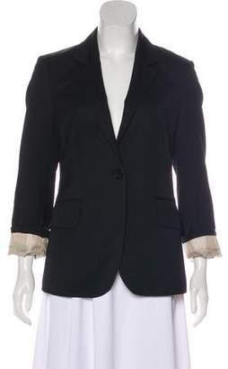 Burberry Wool Notch-Lapel Blazer