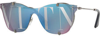 Valentino Square Side-Blinder Sunglasses