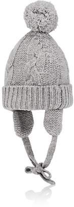 Barneys New York Kids' Pom-Pom Cashmere Hat