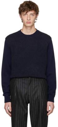Stella McCartney Navy Cashmere Crewneck Sweater
