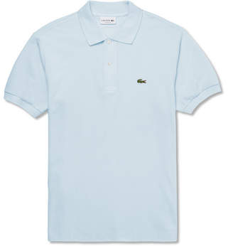 Lacoste Cotton-Pique Polo Shirt - Men - Blue