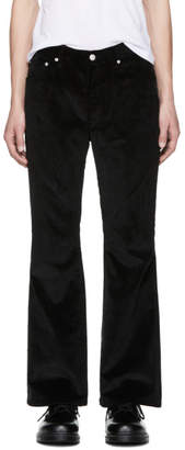 John Lawrence Sullivan Johnlawrencesullivan Black Corduroy Flared Trousers