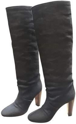 Hermes Black Cloth Boots