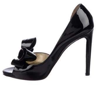 Valentino Patent Leather High Heel Sandals Black Patent Leather High Heel Sandals