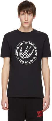 McQ Black Racing Logo T-Shirt