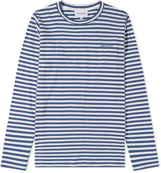 Norse Projects Long Sleeve James Logo Stripe Tee