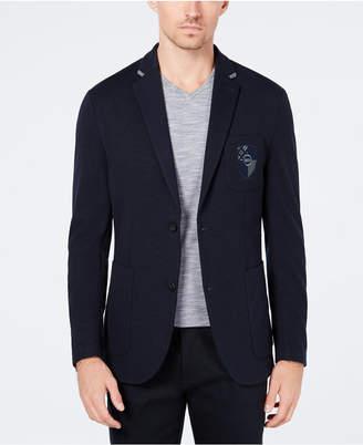 Ryan Seacrest Distinction Men's Slim-Fit Crested Knit Blazer