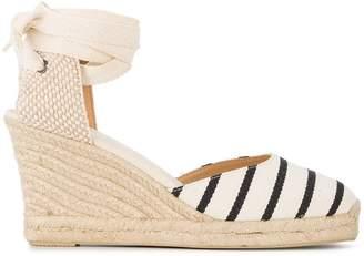 Soludos wedge heel striped espadrilles