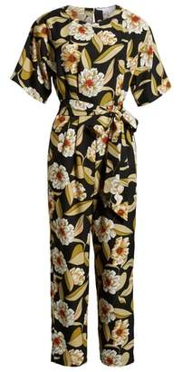 Leith Belted Floral Jumpsuit