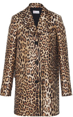 Red Valentino Leopard Printed Coat $1,195 thestylecure.com