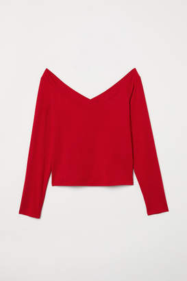 H&M Off-the-shoulder Top - Red