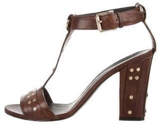 Belstaff Leather T-Strap Sandals