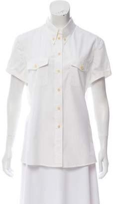 Giorgio Armani Short Sleeve Button-Up Top