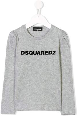 DSQUARED2 flocked logo top