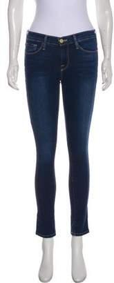 Frame Mid-Rise Skinny Jeans