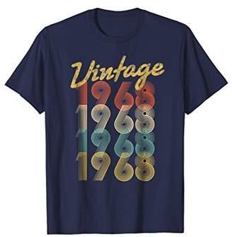 Vintage 1968 T-Shirt Retro Colors 50th Birthday Gift Shirt
