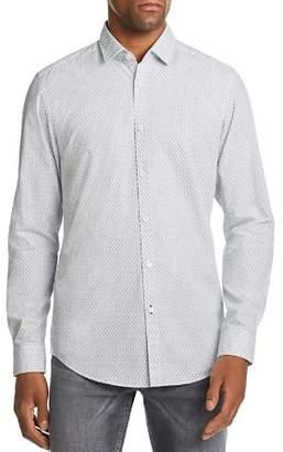 BOSS Lucky Micro-Floral-Print Regular Fit Shirt