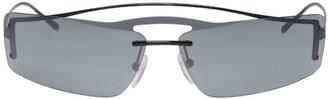 Prada Black and Grey Futuristic Sunglasses