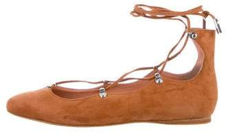Sigerson Morrison Suede Pointed-Toe Flats w/ Tags